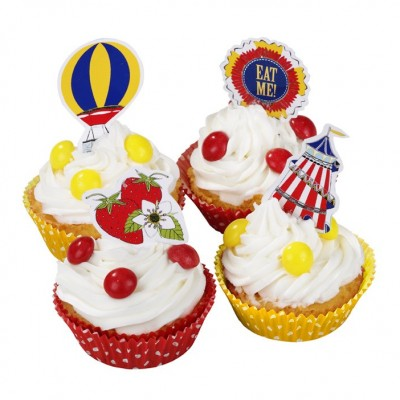 Village Fete Cake Cases and Toppers