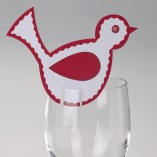 Knitted Noel Die Cut Wine Glass Place Cards