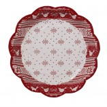 Knitted Noel Paper Plates