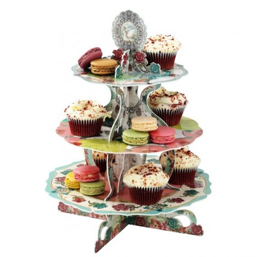 Pastries & Pearls 3 Tier Cake Stand
