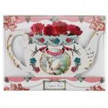 Pastries & Pearls Teapot Vase
